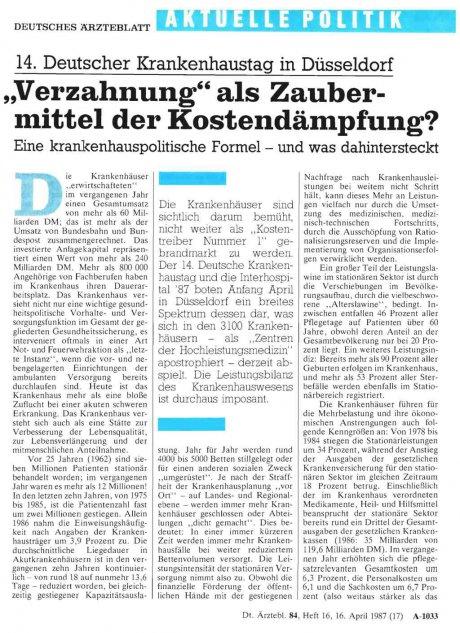14. Deutscher Krankenhaustag in Düsseldorf...