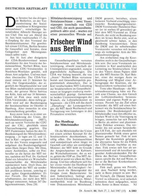 Frischer Wind aus Berlin
