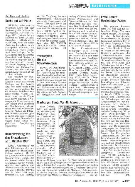 Marburger Bund: Vor 40 Jahren ...