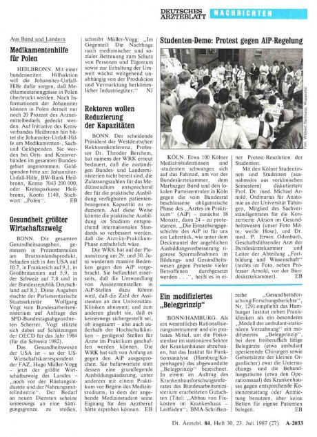 Rektoren wollen Reduzierung der Kapazitäten