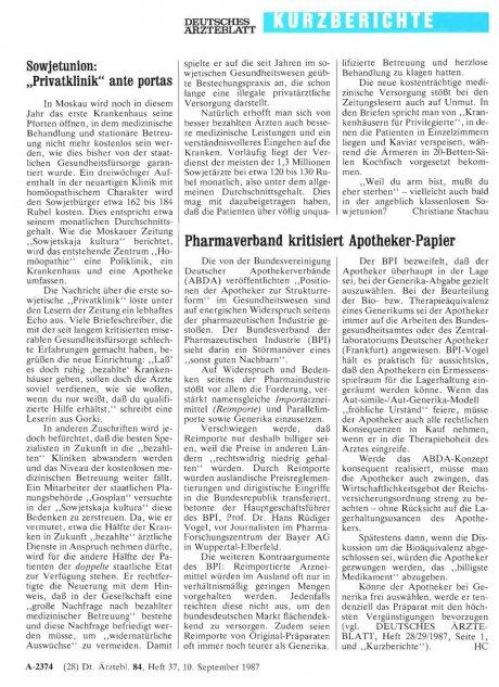 Pharmaverband kritisiert Apotheker-Papier