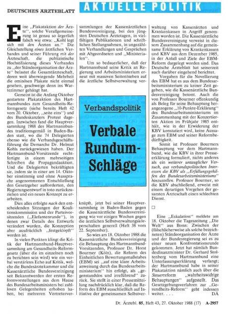 Verbandspolitik: Verbale Rundum-Schläge
