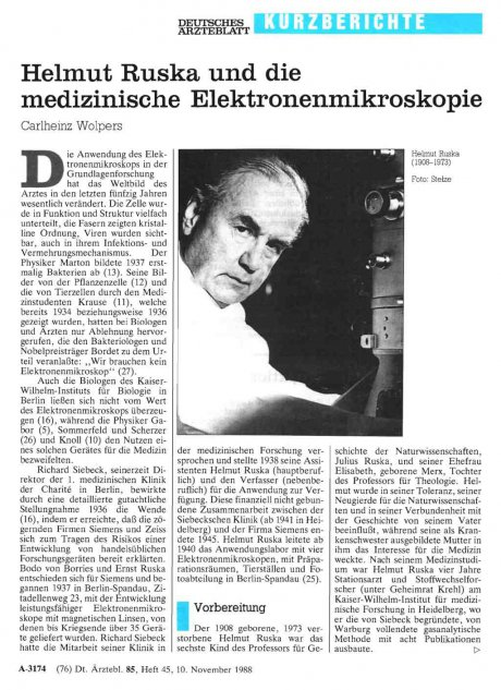 Helmut Ruska und die medizinische...