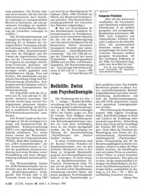 Beihilfe: Zwist um Psychotherapie