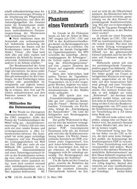 """§ 218-""""Beratungsgesetz"""": Phantom eines Vorentwurfs"""