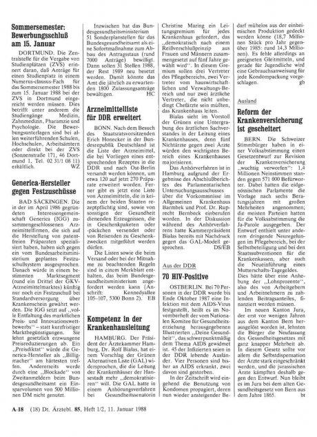 Arzneimittelliste für DDR erweitert