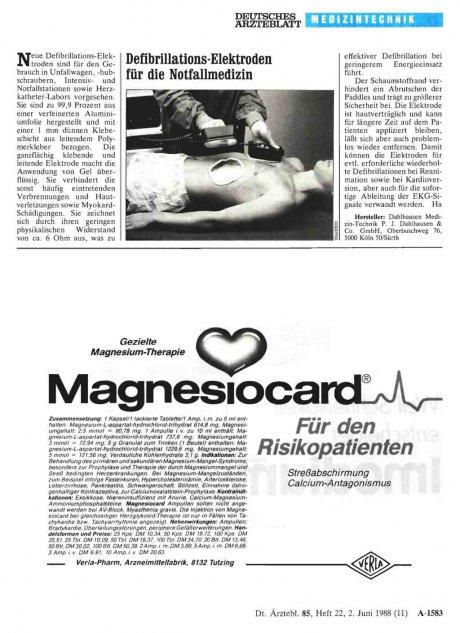 Defibrillations-Elektroden für die Notfallmedizin