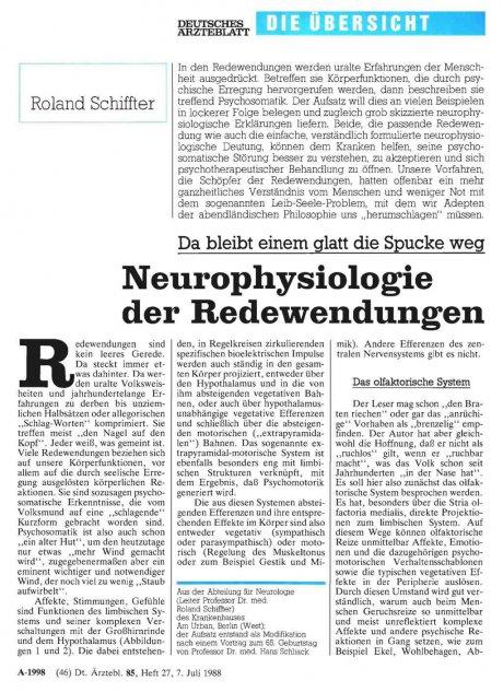 Neurophysiologie der Redewendungen