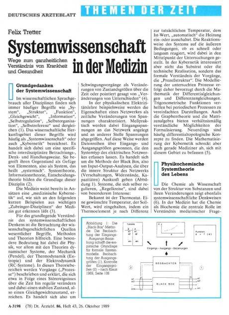 Systemwissenschaft in der Medizin