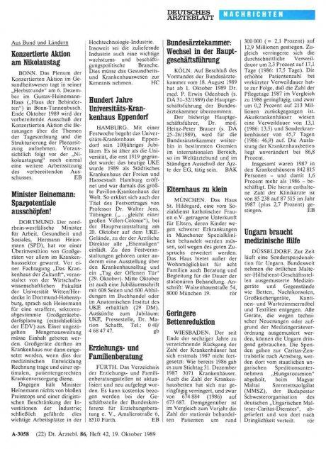 Hundert Jahre Universitäts-Krankenhaus Eppendorf