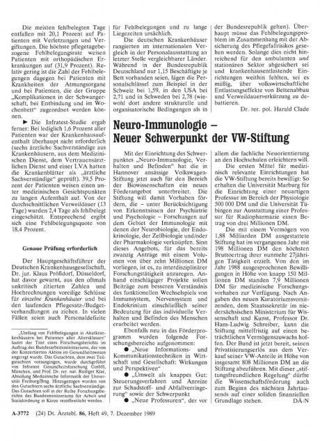 Neuro-Immunologie - Neuer Schwerpunkt der...