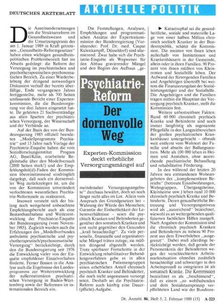 Psychiatrie-Reform: Der dornenvolle Weg