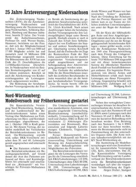 25 Jahre Ärzteversorgung Niedersachsen