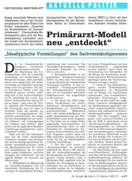 """Primärarzt-Modell neu """"entdeckt"""""""
