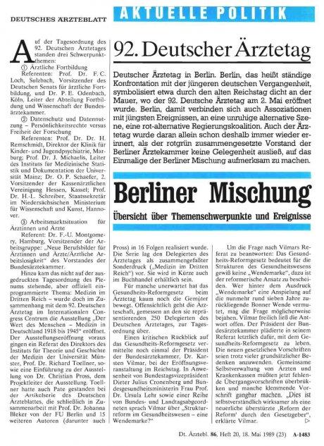 92. Deutscher Ärztetag
