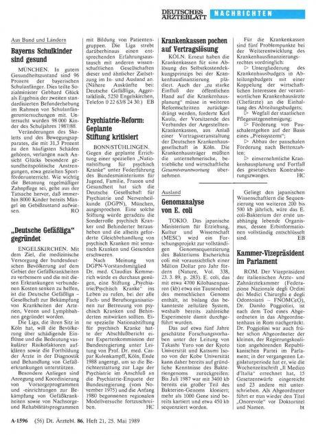 """""""Deutsche Gefäßliga"""" gegründet"""