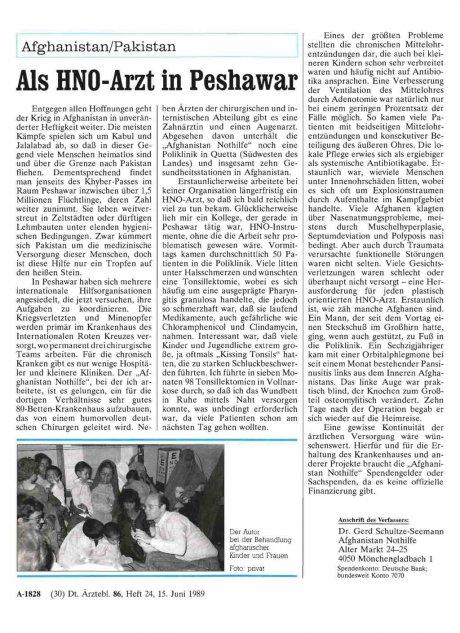 Afghanistan/Pakistan: Als HNO-Arzt in Peshawar