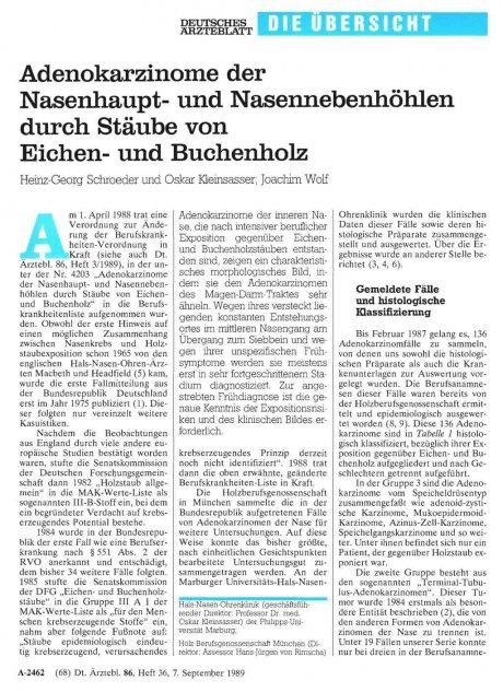 Adenokarzinome der Nasenhaupt- und...