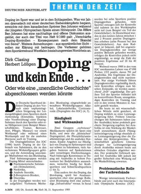 Doping und kein Ende