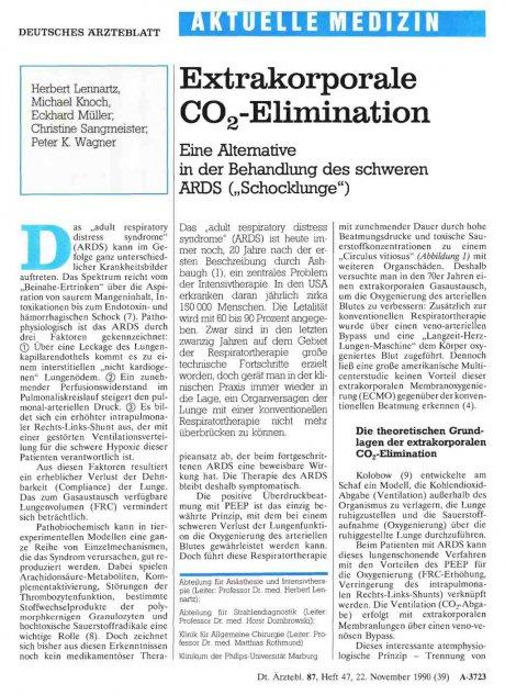 Extrakorporale CO2-Elimination