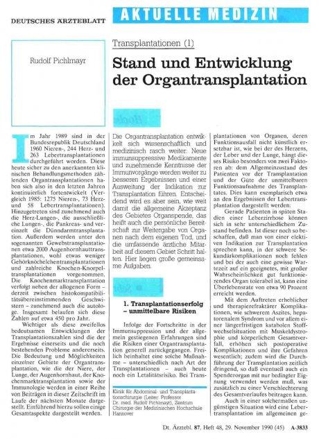 Transplantationen (1)
