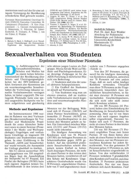 Sexualverhalten von Studenten