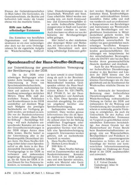Spendenaufruf der Hans-Neuffer-Stiftung zur...