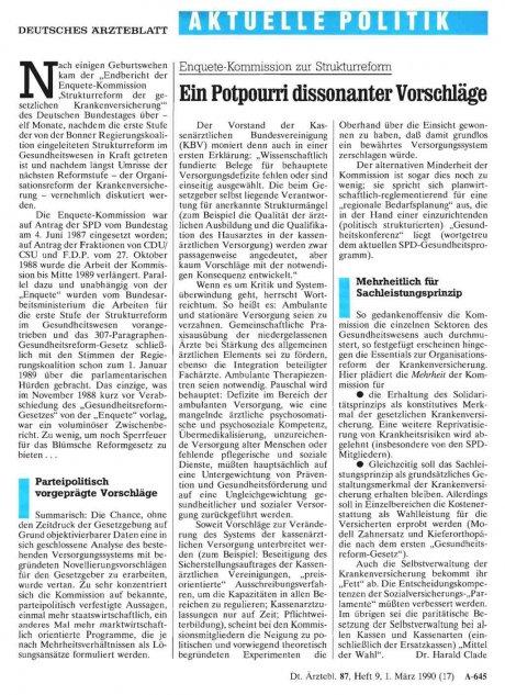 Enquete-Kommission zur Strukturreform