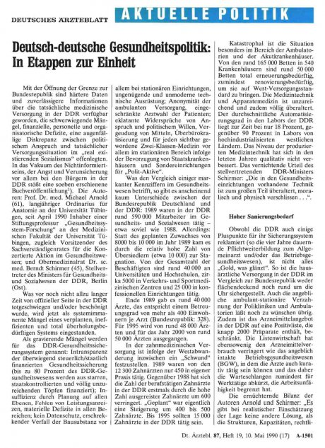 Deutsch-deutsche Gesundheitspolitik