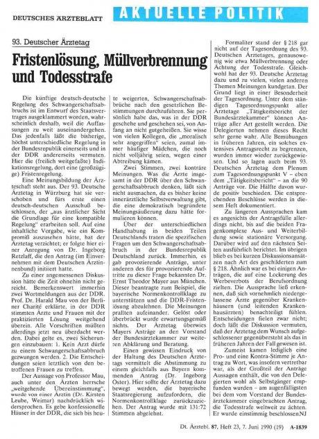 93. Deutscher Ärztetag