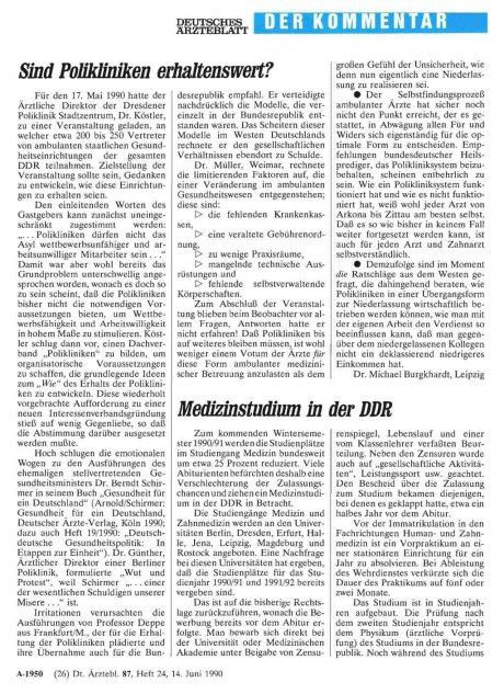 Medizinstudium in der DDR