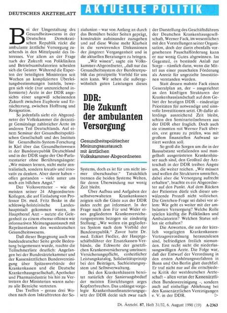 DDR: Die Zukunft der ambulanten Versorgung