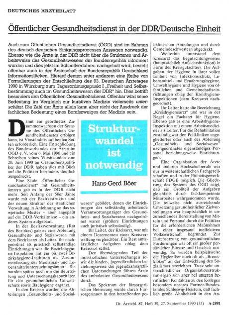 Öffentlicher Gesundheitsdienst in der DDR/Deutsche...