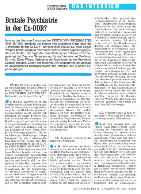 Brutale Psychiatrie in der Ex-DDR?