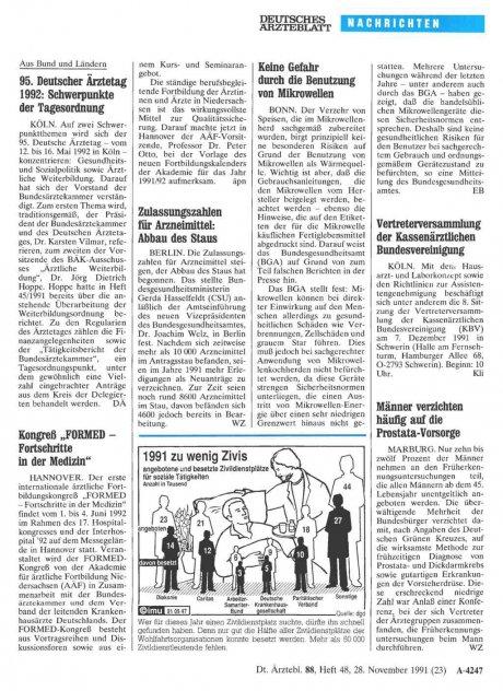 95. Deutscher Ärztetag 1992