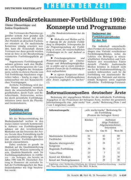 Bundesärztekantnter-Fortbildung 1992
