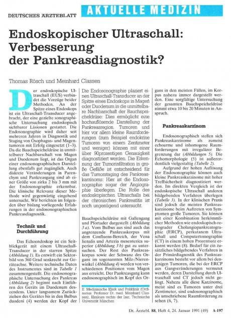 Endoskopischer Ultraschall