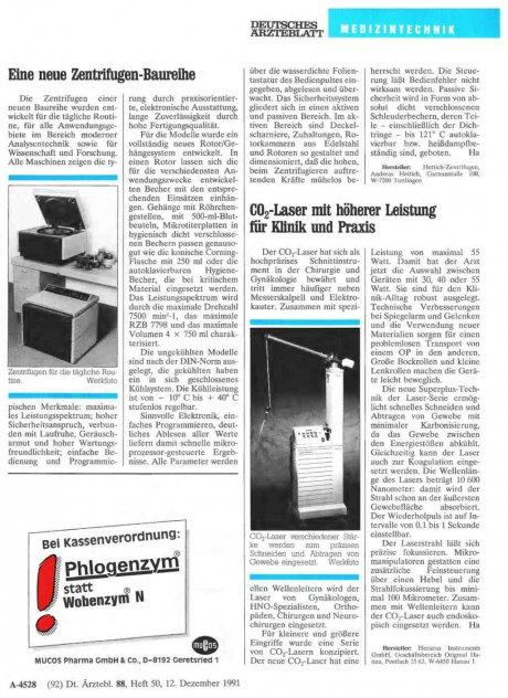 CO2 -Laser mit höherer Leistung für...