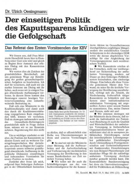 Dr. Ulrich Oesingmann