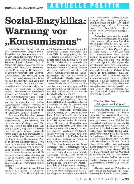 "Sozial-Enzyklika: Warnung vor ""Konsumismus"""