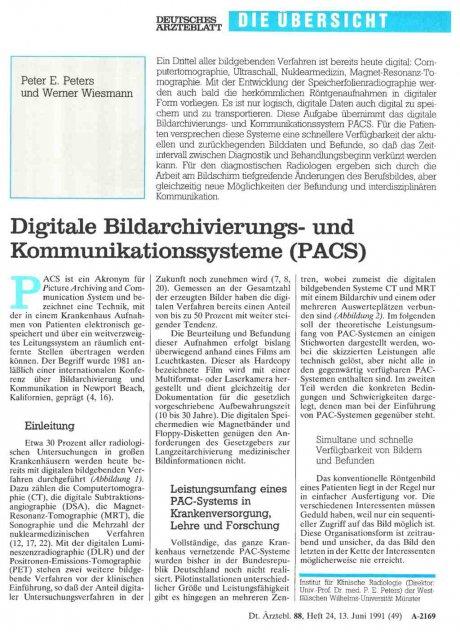 Digitale Bildarchivierungs- und...