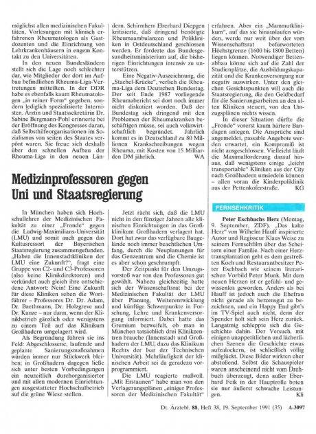Fernsehkritik: Peter Eschbachs Herz