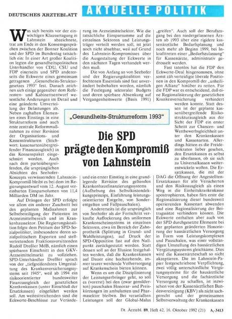 """""""Gesundheits-Strukturreforrn. 1993"""""""