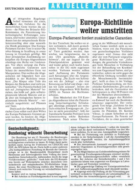 Gentechnikgesetz: Bundestag wünscht Überarbeitung