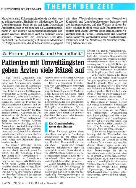 """2. Forum """"Umwelt und Gesundheit"""""""
