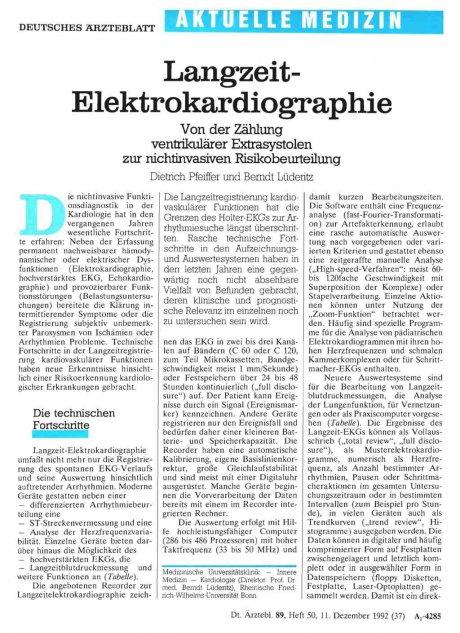 Langzeit- Elektrokardiographie