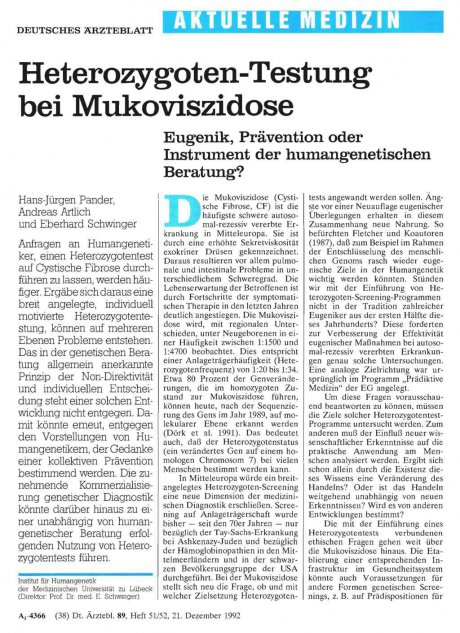 Heterozygoten-Testung bei Mukoviszidose