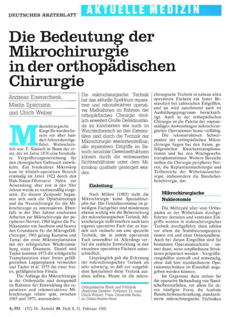 Die Bedeutung der Mikrochirurgie in der...