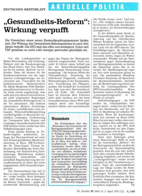 """""""Gesundheits-Reform"""": Wirkung verpufft"""