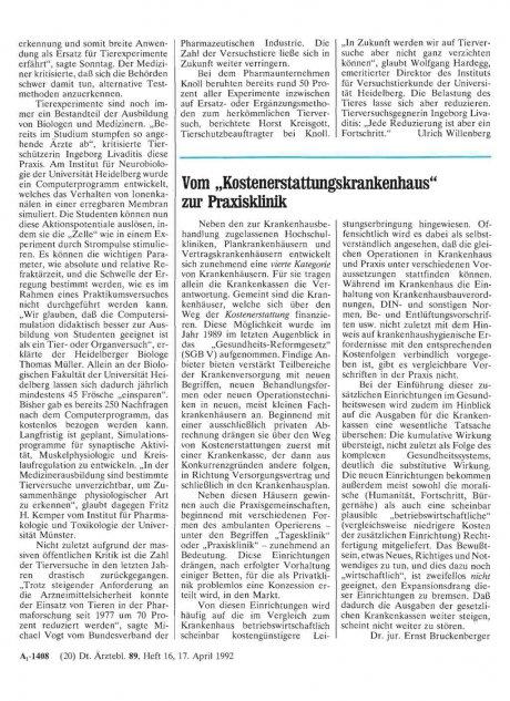 """Vom """"Kostenerstattungskrankenhaus"""" zur..."""
